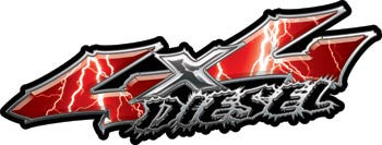 Wicked Series 4x4 Diesel Lightning Red Decals