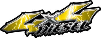 Wicked Series 4x4 Diesel Lightning Yellow Decals