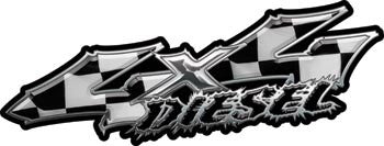 Wicked Series 4x4 Diesel Racing Checkered Flag Decals