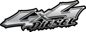 Wicked Series 4x4 Diesel Silver Decals