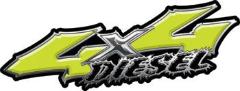 Wicked Series 4x4 Diesel Yellow Decals