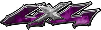 Wicked Series 4x4 Purple Fire Decals