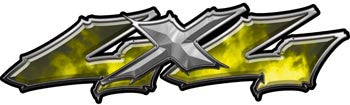 Wicked Series 4x4 Yellow Fire Decals