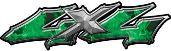 Wicked Series 4x4 Inferno Green Decals