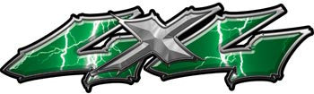 Wicked Series 4x4 Lightning Green Decals