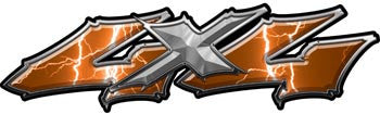 Wicked Series 4x4 Lightning Orange Decals