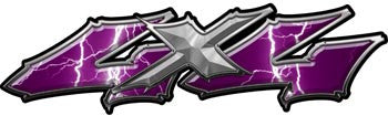 Wicked Series 4x4 Lightning Purple Decals