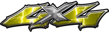 Wicked Series 4x4 Lightning Yellow Decals