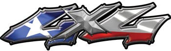 Wicked Series 4x4 Texas Flag Decals