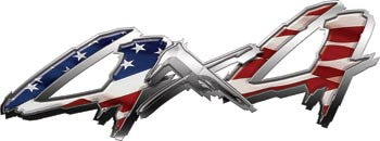 4x4 Truck, SUV or ATV Decals American Flag