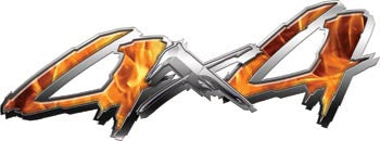 4x4 Truck, SUV or ATV Decals with Inferno Flames