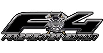 Ford FX4 Firefighter Edition 4x4 Off Road Decals in Black