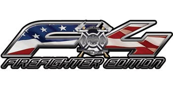 Ford FX4 Firefighter Edition 4x4 Off Road Decals American Flag