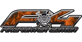 Ford FX4 Firefighter Edition 4x4 Off Road Decals Inferno Orange Flames