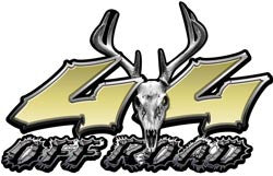 Deer Skull Wicked Series 4x4 Off Road Gold Decals