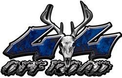Deer Skull Wicked Series 4x4 Off Road Inferno Blue Decals