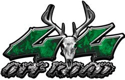 Deer Skull Wicked Series 4x4 Off Road Inferno Green Decals