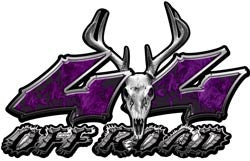 Deer Skull Wicked Series 4x4 Off Road Inferno Purple Decals