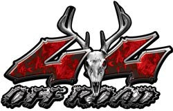 Deer Skull Wicked Series 4x4 Off Road Inferno Red Decals