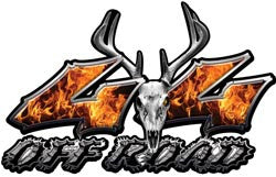 Deer Skull Wicked Series 4x4 Off Road Inferno Decals