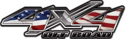 4x4 Offroad Decals with American Flag