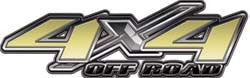 4x4 Offroad Decals in Gold