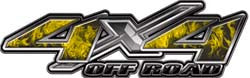 4x4 Offroad Decals Inferno Yellow