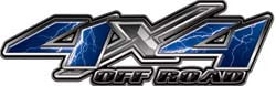 4x4 Offroad Decals Lightning Blue