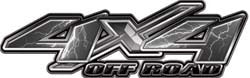 4x4 Offroad Decals Lightning Gray