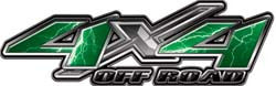 4x4 Offroad Decals Lightning Green