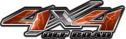 4x4 Offroad Decals Lightning Orange