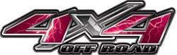 4x4 Offroad Decals Lightning Pink