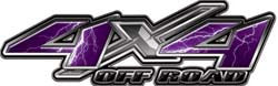 4x4 Offroad Decals Lightning Purple