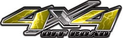 4x4 Offroad Decals Lightning Yellow