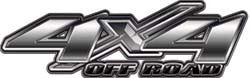 4x4 Offroad Decals in Silver