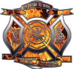 """The Desire to Serve"" Firefighter Decal - Inferno"
