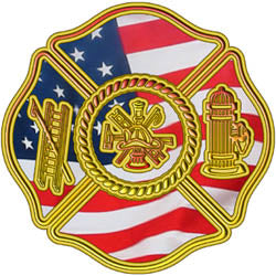 Gold with American Flag Firefighter Decal