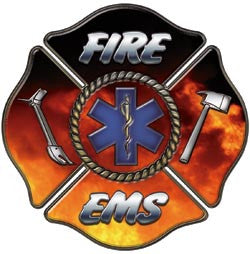 Fire EMS/EMT Maltese Cross Decal