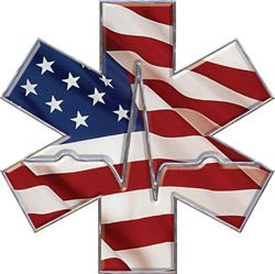 Star Of Life - Heartbeat - American Flag