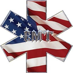 Star of Life - EMT - Flag