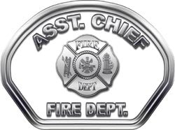 Assistant Chief Helmet Face Decal (REFLECTIVE)