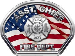 Assistant Chief Helmet Face Decal (REFLECTIVE) American Flag