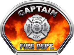 Captain Helmet Face Decal (REFLECTIVE) Real Fire