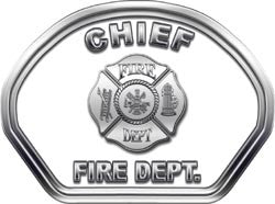 Chief Helmet Face Decal (REFLECTIVE)