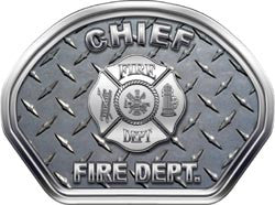 Chief Helmet Face Decal (REFLECTIVE) Diamond Plate