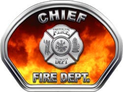 Chief Helmet Face Decal (REFLECTIVE) Real Fire