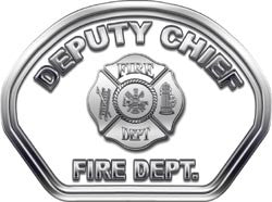Deputy Chief Helmet Face Decal (REFLECTIVE)