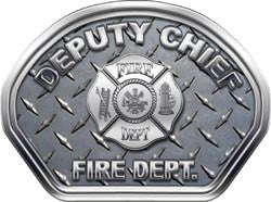Deputy Chief Helmet Face Decal (REFLECTIVE) Diamond Plate