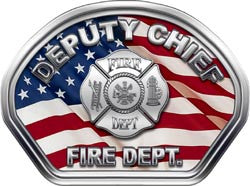 Deputy Chief Helmet Face Decal (REFLECTIVE) American Flag