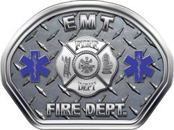EMT Helmet Face Decal (REFLECTIVE) Diamond Plate